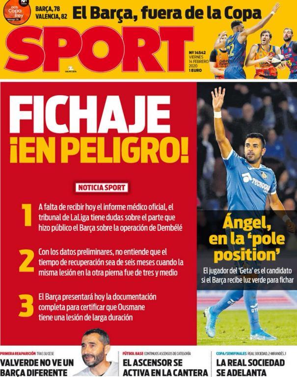 'Sport': LaLiga duda del tiempo de baja de Dembélé