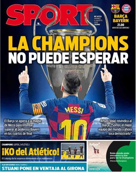 Capa revista Sport 14/08/2020