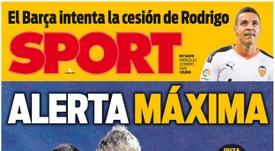 Capa da revista Sport do dia 22-01-20. Sport