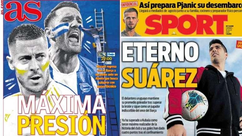 Portadas de la prensa deportiva del 10-07-20. AS/Sport