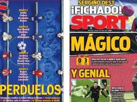 Portadas de la prensa deportiva del 02-10-20. AS/Sport