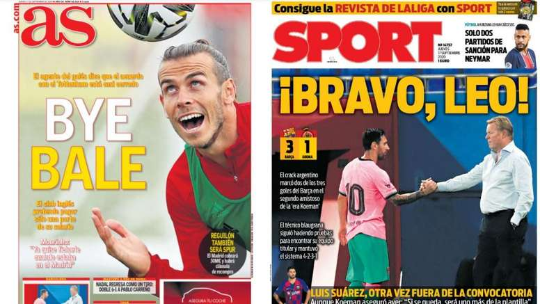 Portadas de la prensa deportiva del 17-09-20. AS/Sport