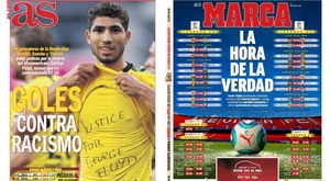 Capas dos jornais espanhóis Marca e AS de 1º de junho de 2020.