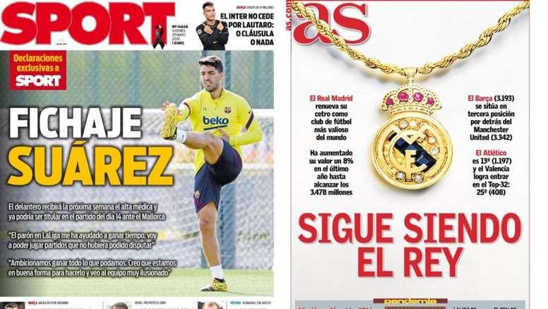 Les Unes Les Unes des journaux sportifs en Espagne du 29/05/2020. sport/marca
