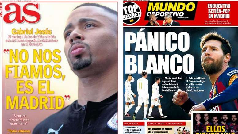 Capas de AS e Mundo Deportivo do dia 28-02-2020. AS/MD