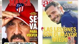 As capas da imprensa esportiva. Marca/AS