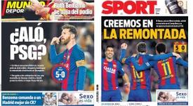 El PSG, presente en las portadas de los rotativos catalanes. BeSoccer