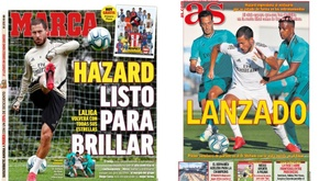 As capas da imprensa esportiva. Marca/AS