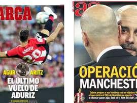 Les Unes des journaux sportifs en Espagne du 21 mai 2020. Marca/AS