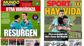 Barcelona complains about refereering for Madrid. Sport/MD