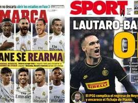 Les Unes des journaux sportifs en Espagne du 3 juin 2020. Marca/Sport