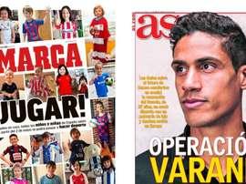 Les Unes des journaux sportifs en Espagne du 26 avril 2020. Marca/AS