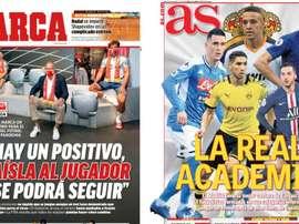 Les Unes des journaux sportifs en Espagne du 28 avril 2020. BeSoccer