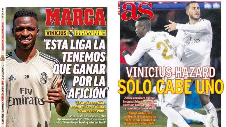 As capas da imprensa esportiva de 23 de maio de 2020. Marca/AS