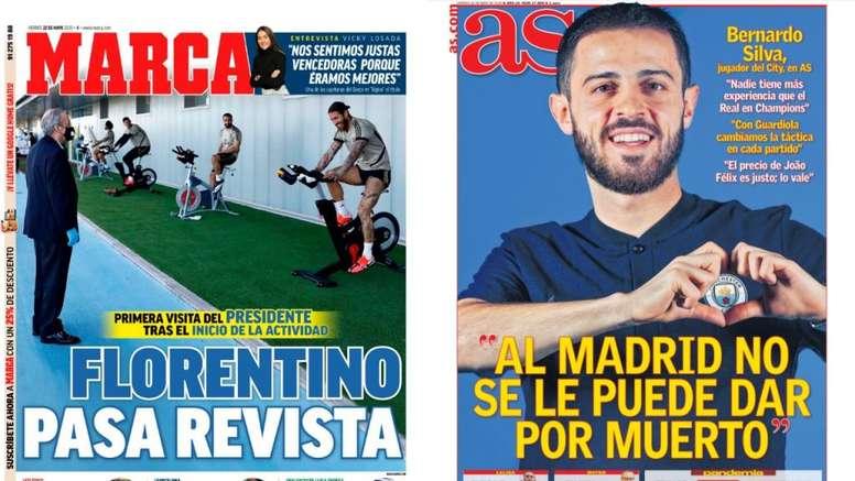 Portadas de la prensa deportiva. Marca/AS