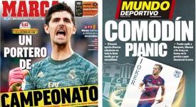 Capas dos jornais espanhóis Marca e Mundo Deportivo.