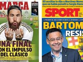 Portadas de la prensa deportiva del 27-10-20. Marca/Sport