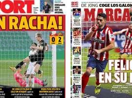 Portadas de la prensa deportiva del 25-01-21. Sport/Marca