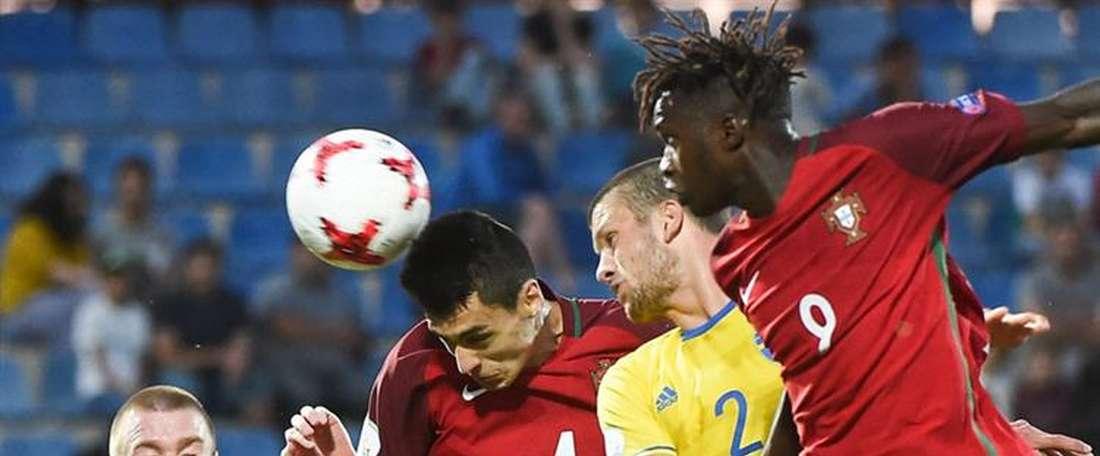 Portugal empatou com a Suécia no último encontro da fase de grupos. Twitter