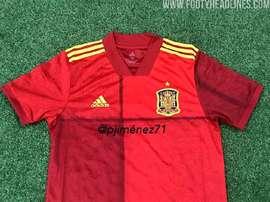 La possibile maglietta della Spagna agli Europei 2020. Footyheadlines