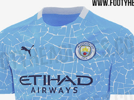 Site revelou a suposta nova camisa do Manchester City para a temporada 2020-21. FootyHeadlines