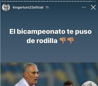 Richarlison e Vidal trocam provocações nas redes. Instagram/kingarturo23oficial