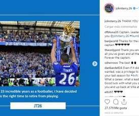 Terry devrait devenir entraîneur. Instagram/JohnTerry