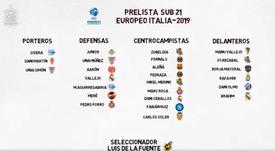 El equipazo de la Sub 21 para la Eurocopa. SeFutbol