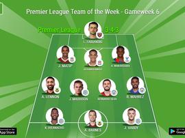 Premier League Team of the Week, Gameweek 6. BeSoccer