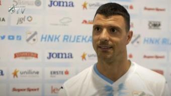Haris Vuckic jugará hasta final de temporada con el HNK Rijeka. Captura/HNKRijeka
