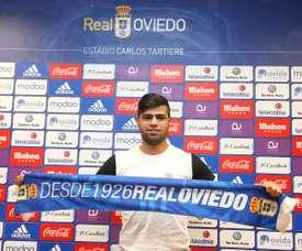 Presentación de Martín Alaníz como nuevo jugador del Oviedo. RealOviedo