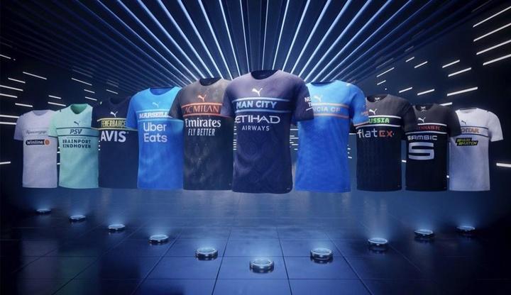 As controversas camisas que a Puma apresentou para 21-22.Puma