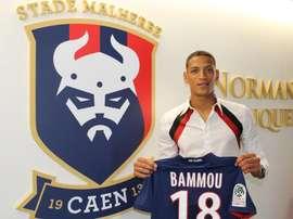 Bammou ya trabaja en el Caen. Twitter/SMCaen