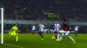 Primeiro gol de Paquetá com a camisa do Milan. Captura/Twitter@WorldACMilan
