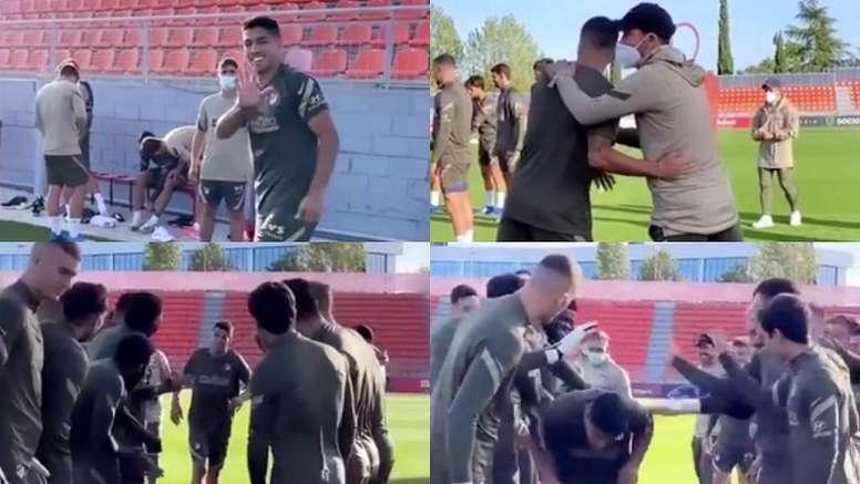 Confira como fo o 1º dia de Luis Suárez no Atlético de Madrid. Capturas/Instagram/atleticodemadrid