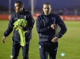 El técnico prepara el partido frente al Tenerife. RealSporting