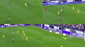 Ramsey marcó su primer gol como jugador de la Juventus. Captura/beINSports