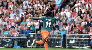 Promes anotó el gol del Ajax. Twitter/AFCAjax