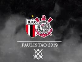 Prováveis escalações de Botafogo-SP e Corinthians. Twitter @Corinthians