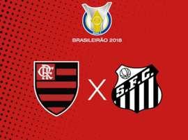 Prováveis escalações de Flamengo e Santos para a 34ª rodada do Brasileirão. Twitter @Flamengo