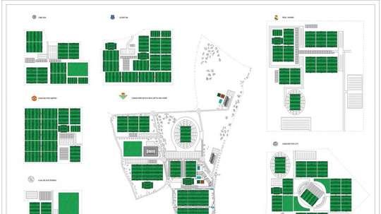 El Betis presentó su proyecto de ciudad deportiva. EFE