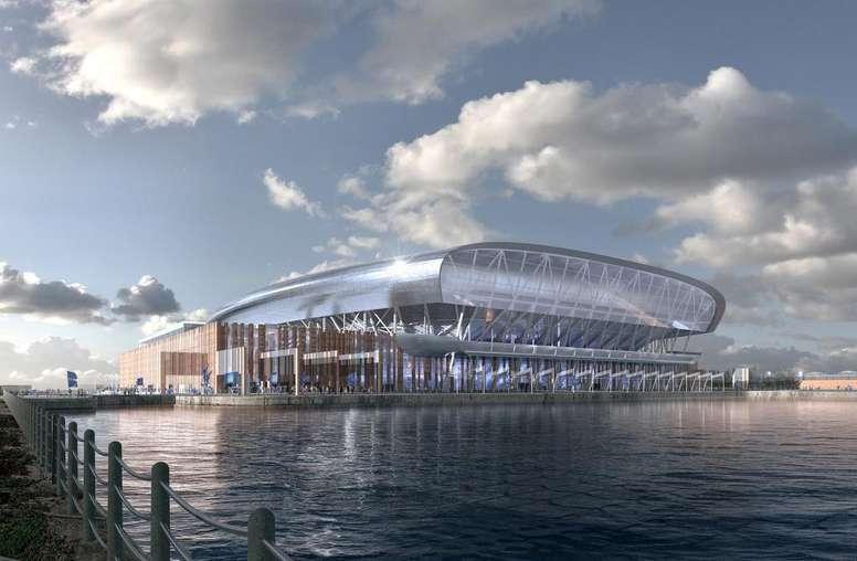El Everton vende el nombre de su nuevo estadio. Twitter/Everton