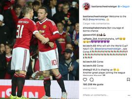 Schweinsteiger a joué aux côtés de Rooney à Manchester United. Instagram