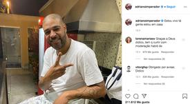Adriano tuvo que salir a negar que le habían asesinado. Instagram/adrianoimperador