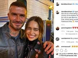 David Beckham bragged about meeting the 'Mother of Dragons'. Instagram/davidbeckham