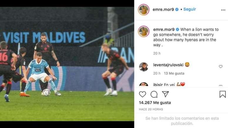 Emre Mor publicó un mensaje motivacional. Captura/Instagram/emre.mor9