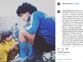 Dalma Maradona se despediu de seu pai. Captura/Instagram/dalmaradona