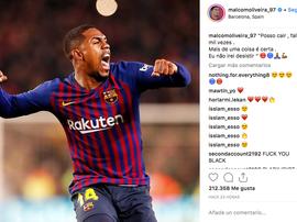 Malcom a assuré qu'il n'abandonnerait jamais. Instagram
