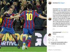 Messi also praised Xavi's contribution to the sport. Instagram