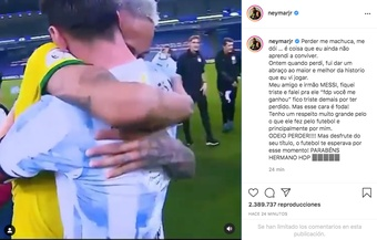Neymar ha commentato la sconfitta. InstagramNeymarJr
